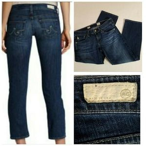 AG Tomboy Relaxed Straight Crop Jeans 27