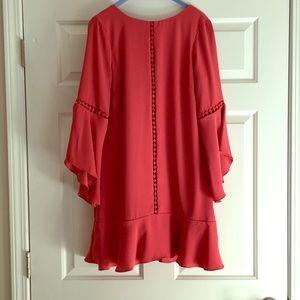 White House Black Market flutter-sleeve dress!