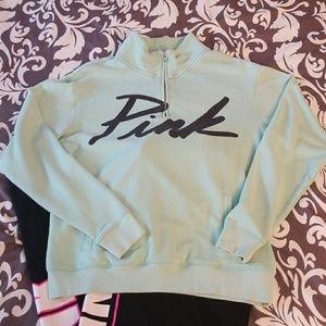 Pink Victoria's Secret Quarter Zip Sweatshirt