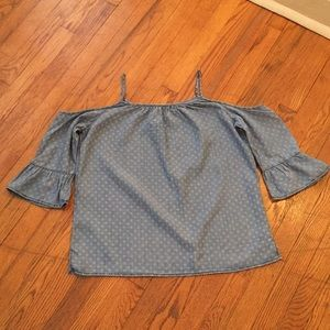 Stitch Fix - off the shoulder chambray top