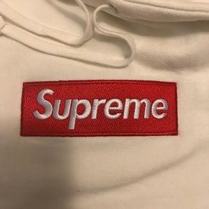 New Supreme White Box Logo Hoodie Size XL
