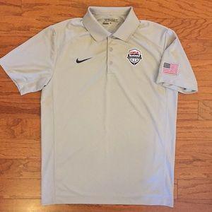 Nike Official USA Basketball Dri-Fit Golf Polo