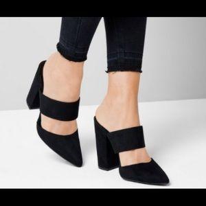 Never worn New Look Double strap block heel pumps