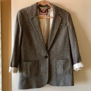 Wool & Silk blend boyfriend blazer