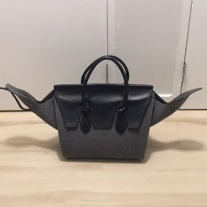 REAL! Rare Grey Wool Celine Tie the Knot Bag