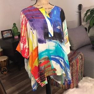 Colorful artistic tunic blouse