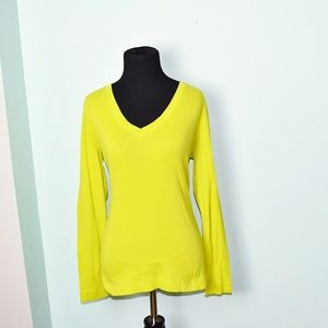 Lands End Chartreuse Colored Top