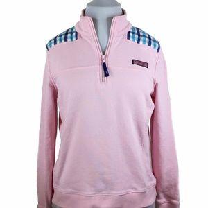 Vineyard Vines Pink Shep Shirt Quarter Zip