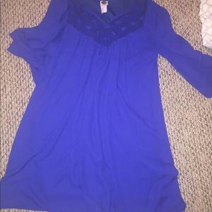 Short sleeved blue dress