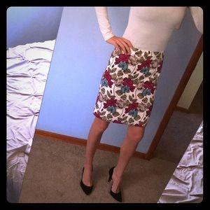 Gorgeous floral Ann Taylor Pencil Skirt