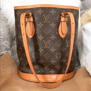 Louis Vuitton Monogram Petit Bucket Bag PM