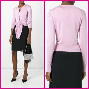 Tie Bottom Cardigan - Pink Blush