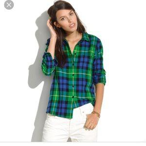 Madewell Flannel Boyshirt S