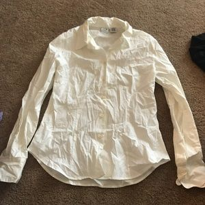 Gap ivory button down shirt