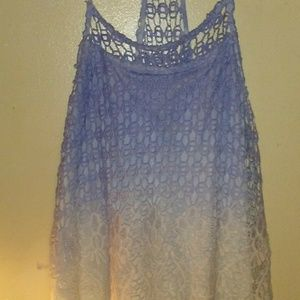 Cute lace strapless tank NWOT