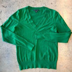Vintage Banana Republic Green v-neck sweater S