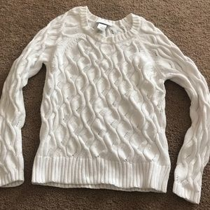 Petite sophisticate white sweater