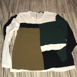 Zara color-block shirt