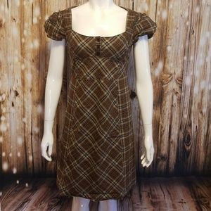 Maeve brown plaid (work appropriate) dress