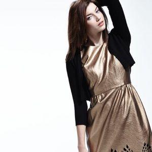 New Michael Kors Metallic Gold Vegan Leather 4 nwt