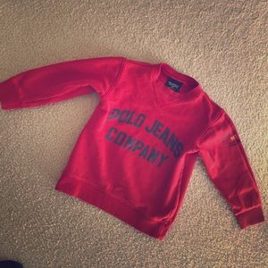Boys red sweatshirt by polo Ralph Lauren