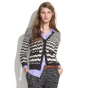 Wallace by Madewell Chevron Songstress Cardigan,XS