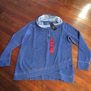 Calvin Klein Cowl Neck Thermal Sweatshirt NWT