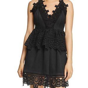 Aqua lace peplum dress like new