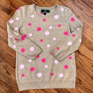 C. Wonder scattered dot intarsia sweater