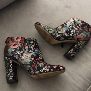 Sam Edelman Floral Booties