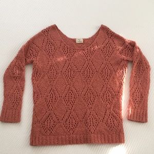 UO pins and needles salmon knit sweater size M
