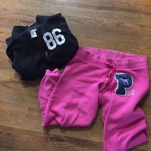 Victoria secret pink sweatshirt and sweatpants