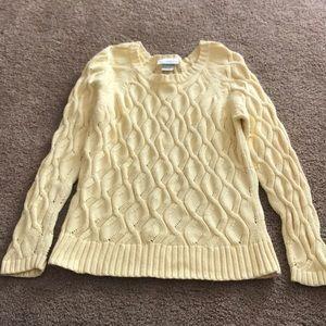 Petite sophisticate yellow sweater xs