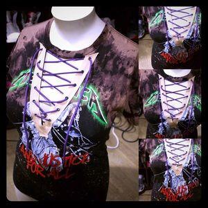 Metallica lace up shirt