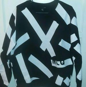 Black $ white Mcq sweater
