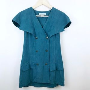 Vintage M.J. Carroll Double Breasted Button Dress