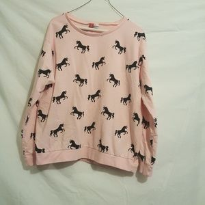 H&M Pink Unicorn Shirt