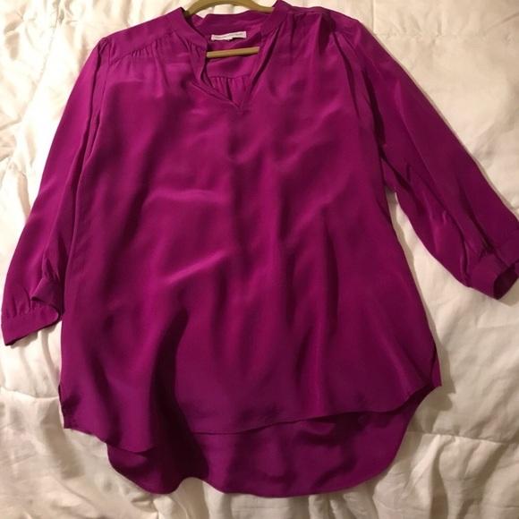 7a6d7cc21eeb5 Amanda Uprichard Tops - Amanda Uprichard Purple 100% Silk Blouse Sz Small