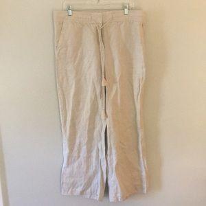 LOFT Linen Wide Leg Trousers
