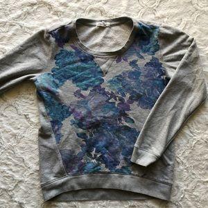 Aeropostale Gray Sweatshirt with Watercolor Design