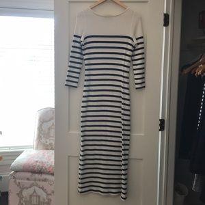 Ralph Lauren Polo waffleknit boatneck maxi dress M
