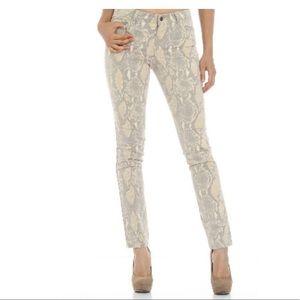 Azi Cobra Print Skinny Stretch Jeans SZ 4
