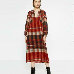 Zara Woman plaid dress