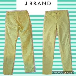 Euc J Brand greenish yellow skinny jeans size 25