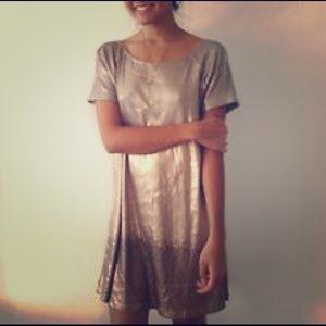 Free People Gold ombré NYE dress