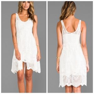 NWT FREE PEOPLE ivory lace floral dress size 2