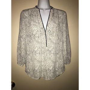 H&M White/Black Dots Blouse Size 4