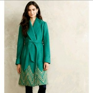 Anthropologie Jali Stitched Coat