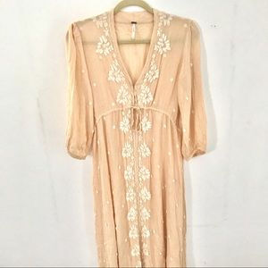 Free People Fable Dress in Peach
