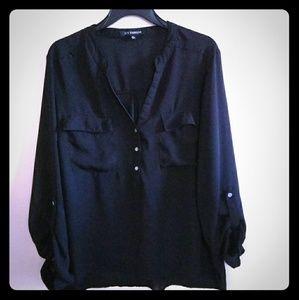 Women's Black sheer blouse